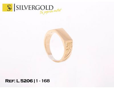 Sello oro 18Kt. infantil rectangular L5206
