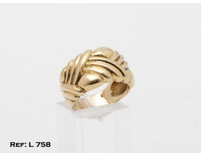 Anillo oro 18Kt. labrado en relieve L758