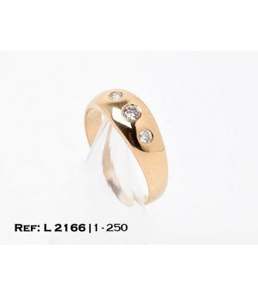 1-1-250-1-ANILLO ESTILO TRESILLO CON DIAMANTES (20,5 mm) L2166