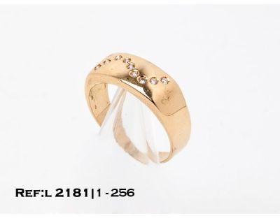 ANILLO DIAMANTES EN ZIG-ZAG (18 mm) L2181