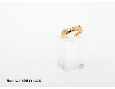 1-1-275-1-DIA-ANILLO-T16 GALLONEADO CON 3 DIAMANTES (19 mm) L1195