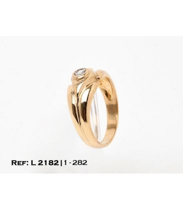 1-1-282-1-ANILLO ESTILO SOLITARIO GALLONADO CON DIAMANTES (20 mm) L2182