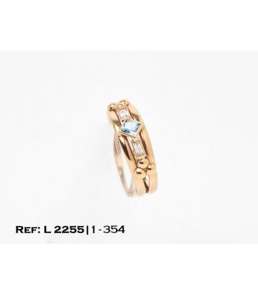 1-1-354-1-ANILLO DOBLE ARO ESTILO TRESILLO (19,5 mm) L2255
