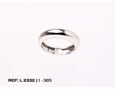 ANILLO ARO ORO BLANCO (18 mm) L2332