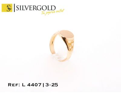 Sello oro 18Kt. infantil oval L 4407