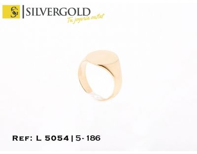 Sello oro 18Kt. infantil, oval L5054