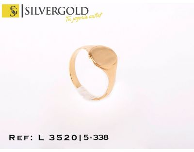 Sello oro 18Kt. infantil oval L3520