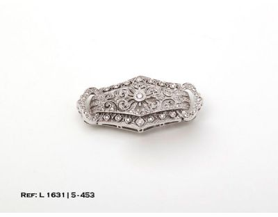 DIA-BROCHE ORO BLANCO CON DIAMANTES L1631