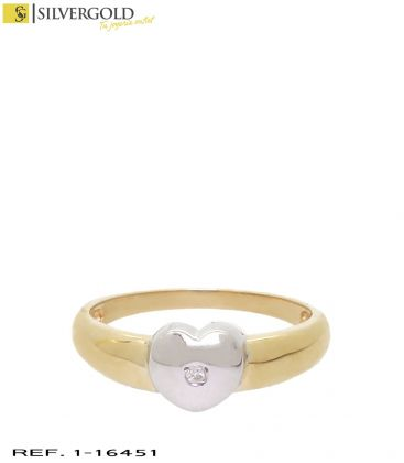 1-1-16451-1-D-Anillo oro bicolor con diamante