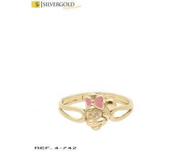 Anillo infantil oro 18Kt. Minie mouse