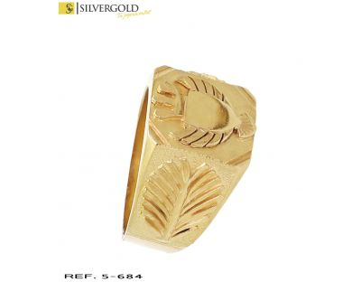 Sello oro 18Kt. con escudo central L 4510