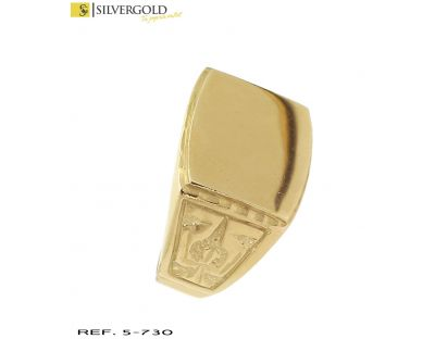 Sello oro 18Kt. rectangular L4523