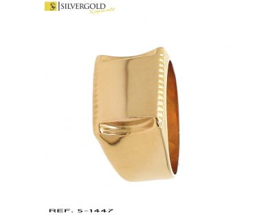 Sello oro 18Kt. rectangular liso. L 4808