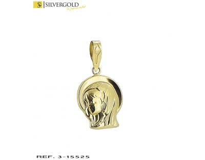 Medalla oro 18Kt. virgen en relieve