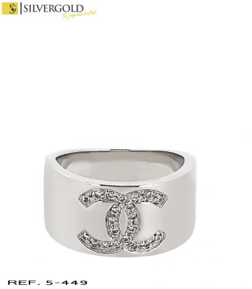 1-5-449-3-DIA-Anillo oro blanco 18Kt. Chanel con diamantes L4003