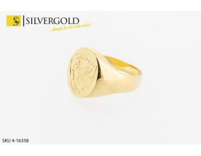 Anillo tipo sello con escudo del atlhetic central. Oro 18 kt.