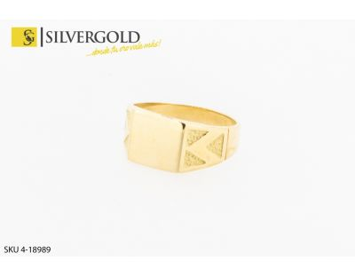 Sello rectangular. Oro 18 kt